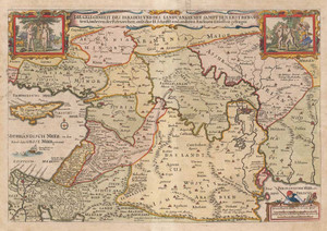 Prints and cards of Map of the Middle East, Opportunity of Paradise by Nicolaes Visscher