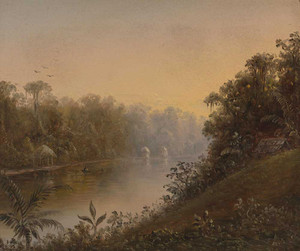 Prints and cards of Tropical River Landscape by Norton Bush