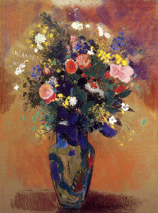 Prints and cards of Bouquet in a Persian Vase by Odilon Redon