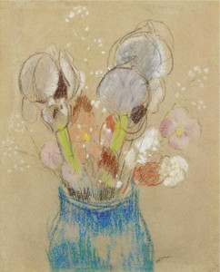 Prints and cards of Bouquet of Flowers, Irises by Odilon Redon