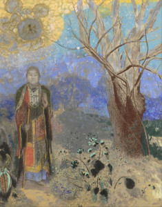 Prints and cards of Buddha by Odilon Redon
