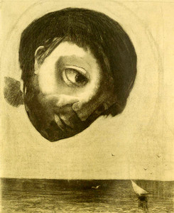 Prints and cards of Guardian Spirit of the Waters, 1878 by Odilon Redon