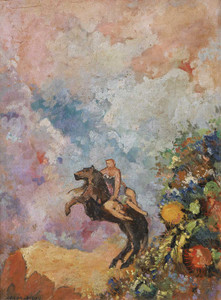 Prints and cards of Pegasus and Muse by Odilon Redon