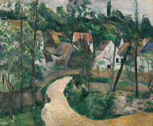 Prints and cards of A Turn in the Road by Paul Cezanne