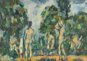 Prints and cards of Bathers 3 by Paul Cezanne