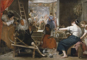 Art prints of Spinners by Diego Velazquez