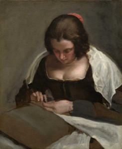 Art prints of The Needlewoman by Diego Velazquez