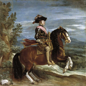 Art prints of Equestrian Portrait of Philip IV by Diego Velazquez