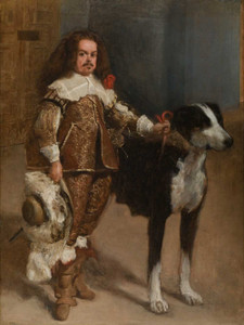 Art prints of Portrait of a Dwarf by Diego Velazquez