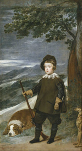 Art prints of Prince Balthasar Charles as a Hunter by Diego Velazquez