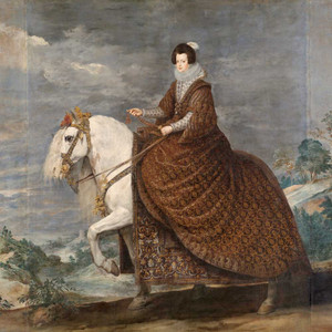 Art prints of Equestrian Portrait of Elisabeth of France by Diego Velazquez