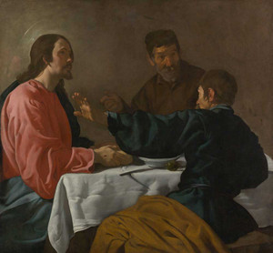 Art prints of Supper at Emmaus by Diego Velazquez