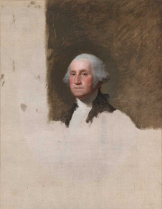 Art prints of George Washington, the Anthenaeum Portrait by Gilbert Stuart