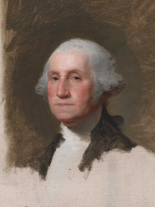 Art prints of George Washington, the Anthenaeum Portrait, cropped by Gilbert Stuart