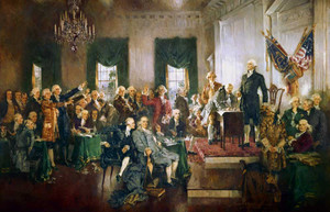 Art prints of Scene at the Signing of the Constitution of the U.S. by Howard Chandler Christy