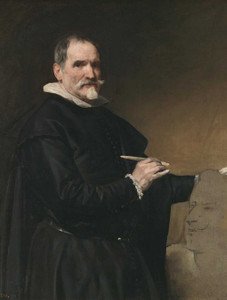 Art prints of Portrait of Juan Martínez Montañés by Diego Velazquez