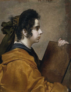 Art prints of Dama Juana Pacheco or Portrait of Sibila by Diego Velazquez