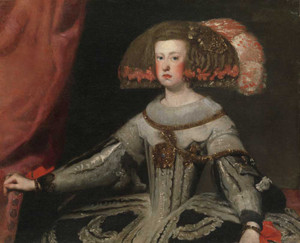 Art prints of Mariana of Austria Queen of Spain by Diego Velazquez