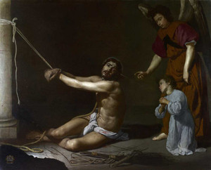 Art prints of Christ Bound and the Christian Soul, 1625 by Diego Velazquez
