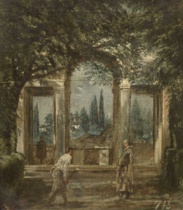 Art prints of Garden of the Villa Medici of the City of Rome by Diego Velazquez