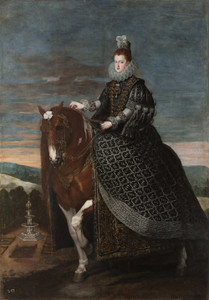 Art prints of Equestrian Portrait of Margarita of Austria by Diego Velazquez