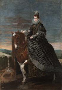Art prints of Equestrian Portrait of Margarita of Austria by Diego Velazquez