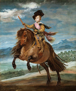 Art prints of Equestrian Portrait of Prince Balthasar Charles by Diego Velazquez