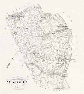 Art Prints of Bucks County Map Solebury II, Bucks County Vintage Map
