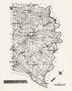 Art Prints of Bucks County Map Northampton, Bucks County Vintage Map