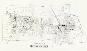 Art Prints of Bucks County Map Quakertown Borough, Bucks County Vintage Map
