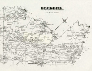 Art Prints of Bucks County Map Rockhill, Bucks County Vintage Map