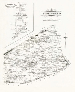 Art Prints of Bucks County Map Springfield, Bucks County Vintage Map