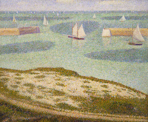 Art prints of Port en Bessin, Entrance to the Harbor by Georges Seurat