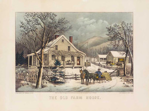 Art prints of The Old Farm House by Currier and Ives