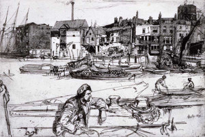 Art prints of Black Lion Wharf by James Abbott McNeill Whistler