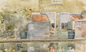Art prints of Canal Scene, Holland by James Abbott McNeill Whistler