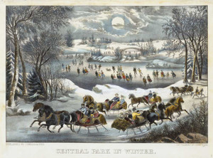 Art prints of Central Park in Winter by Currier and Ives