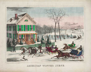 Art prints of American Winter Scene by Currier and Ives