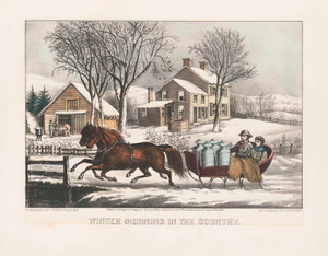 Art prints of Winter Morning in the Country by Currier & Ives