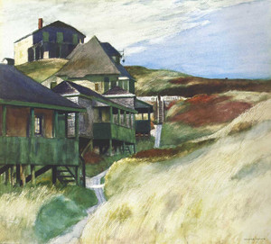 Art prints of Shacks at Pamet Head by Edward Hopper