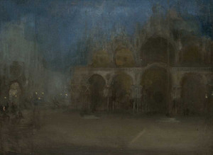 Art prints of Nocturne in Blue and Gold, Saint Marks, Venice by James Abbott McNeill Whistler