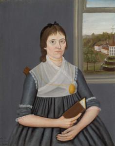 Art prints of Portrait of a Lady by John Brewster Jr.