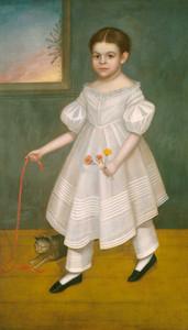 Art prints of Girl with Kitten by Joseph Goodhue Chandler