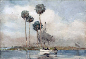 Art prints of The White Rowboat, Saint John's River by Winslow Homer
