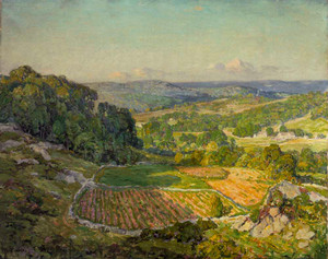 Art prints of A Valley in Spring by Wilson Henry Irvine