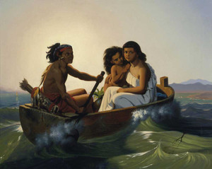Art prints of Indian Family on San Francisco Bay by Charles Christian Nahl