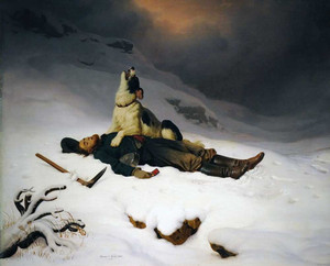 Art prints of Morning the Master or the Dead Miner by Charles Christian Nahl