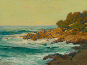 Art prints of Sunset Light near Monterey by Charles Partridge Adams
