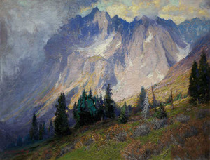 Art prints of Gathering Storm in Near the San Juan Mountains by Charles Partridge Adams