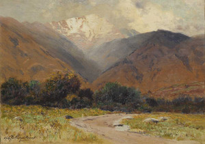 Art prints of Pikes Peak, Light Shower Near Manitou by Charles Partridge Adams